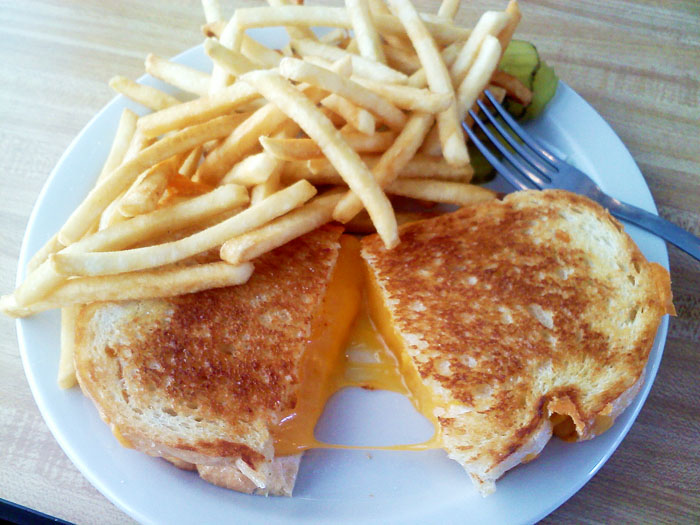 Mmmm grilled cheese from Detz Cafe