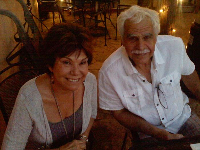 My parents enjoying Pizzeria Rustica's patio