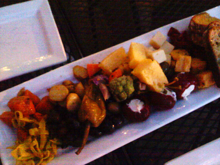 Locally sourced antipasto tray