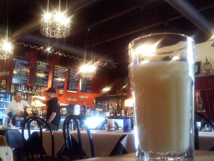 I had a Pastis, a very French licorice flavored drink, at La Baguette
