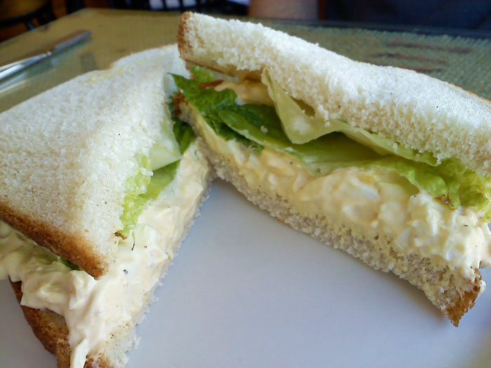 Egg salad sandwich lunch special from Gold Hill Java