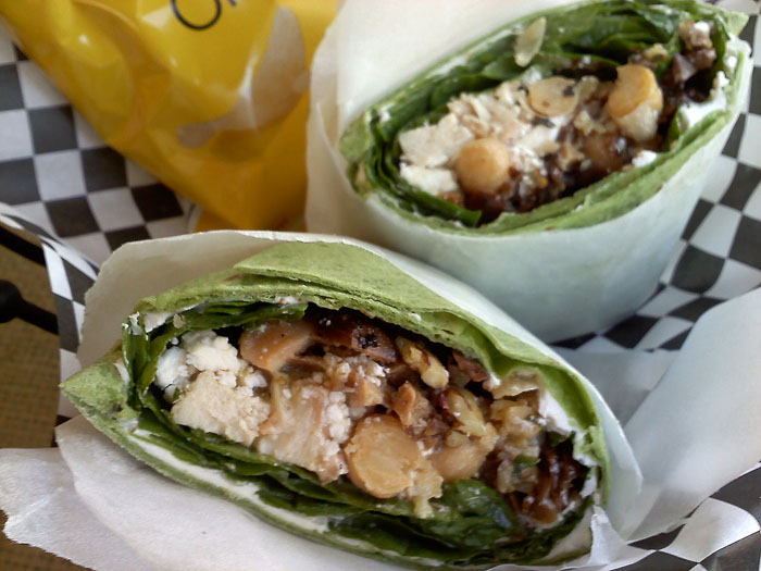 Healthy Mediterranean wrap from Gold HIll Java