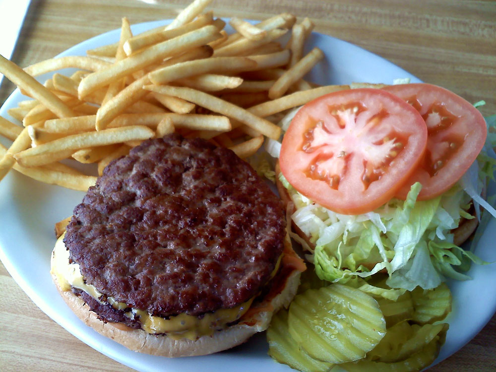 Calicrate beef burger from Detz Cafe