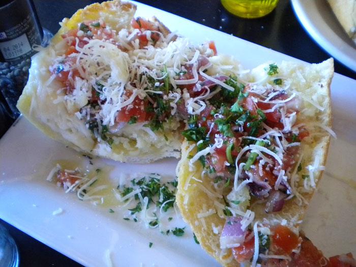 Fresh bruschetta at Paravicini's.