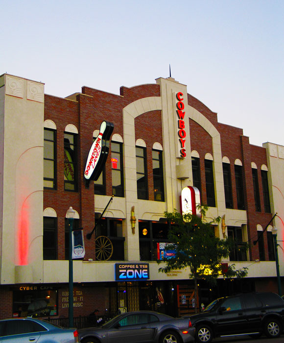 If you're young and preferably in the military, you'll love weekends at downtown's pseudo honkeytonk, Cowboys. They also have bowling upstairs.