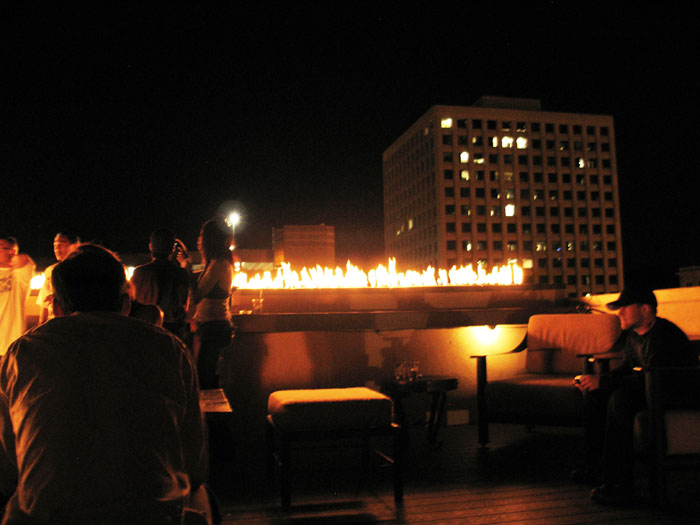 Then go over to the nightclub compound on Tejon St. and have a drink at the bar with the fire on the roof.