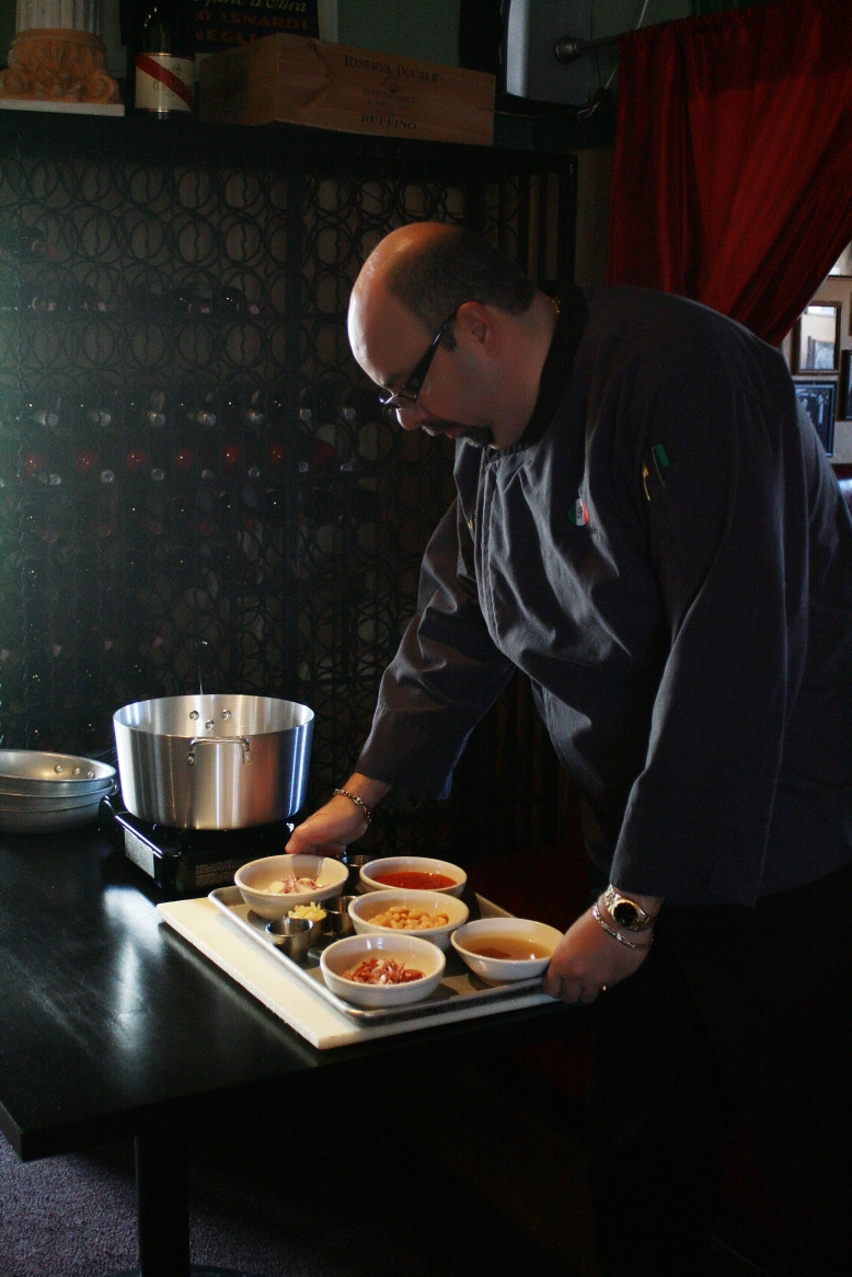 Chef Franco also conducts cooking classes at the restaurant.