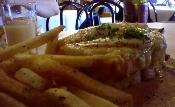 Another view of the Crocque Madame.