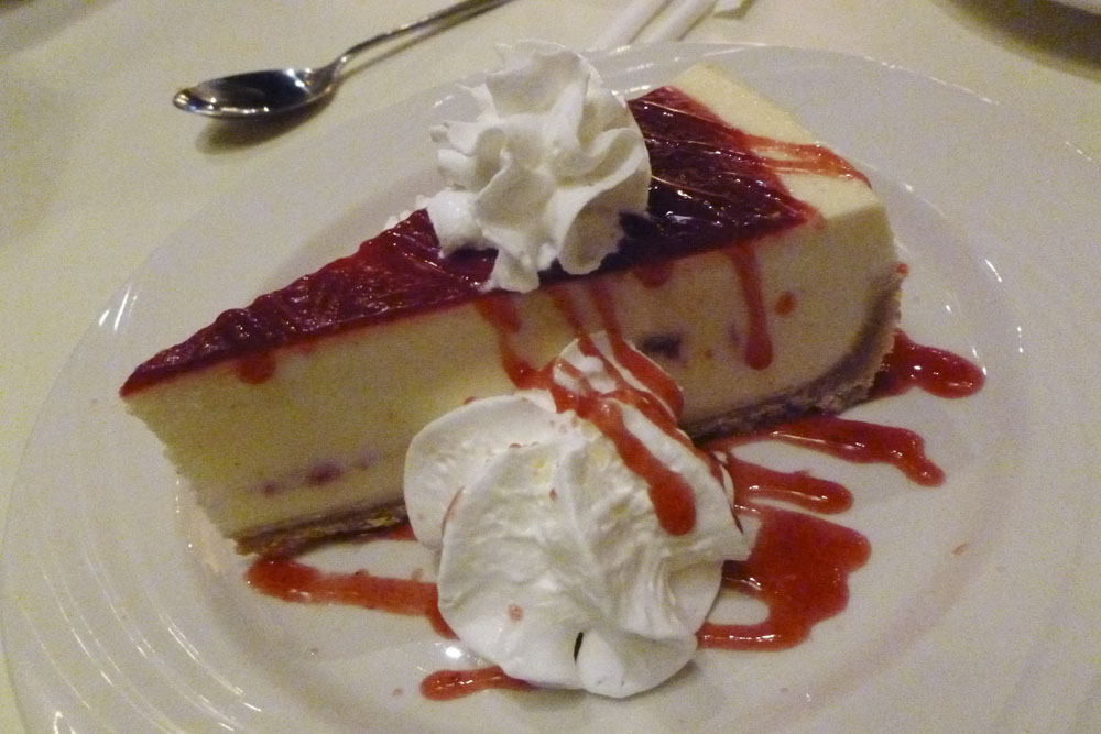 For dessert we had a creamy cheesecake.