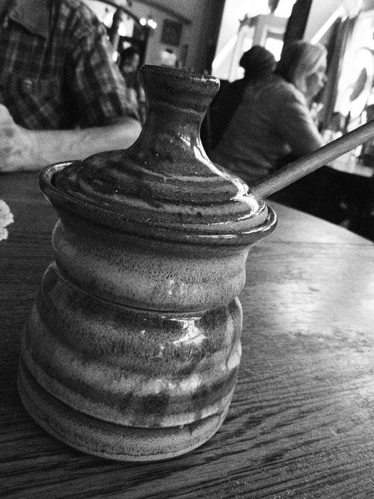 Honey pot at Adam's Mountain Cafe