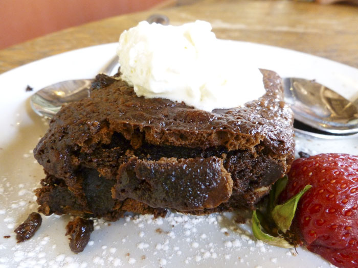Insanely good brownie from Adam's Mountain Cafe