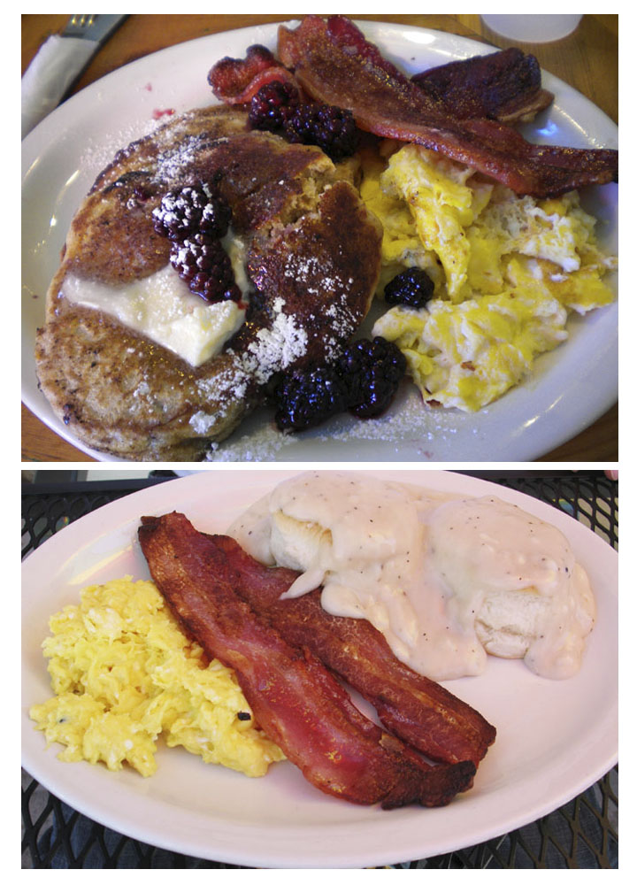 Breakfast at Smiley's is delicious!