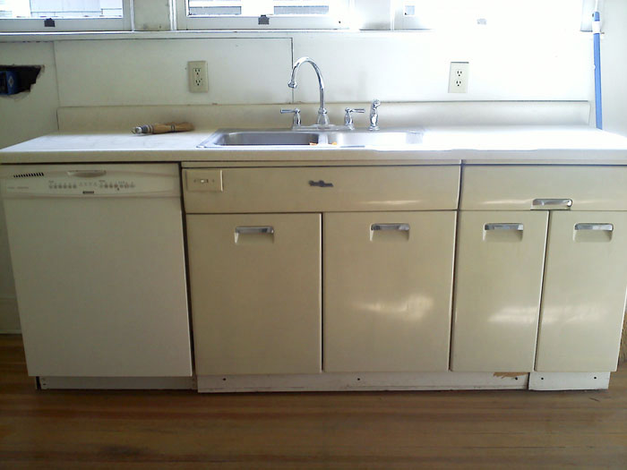 Our budget friendly colorado springs kitchen renovation for Metal kitchen cabinets