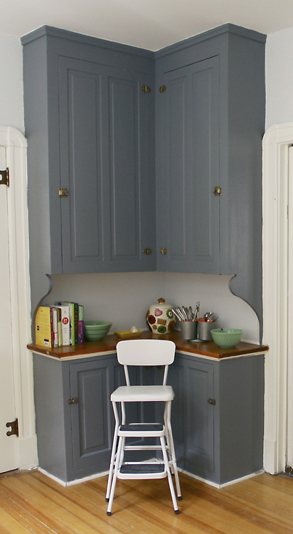 We painted the hutch with Benjamin Moore, but I can't remember what color!