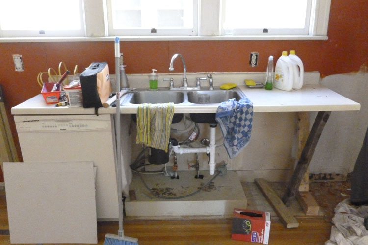 This was our kitchen for about 6 weeks.