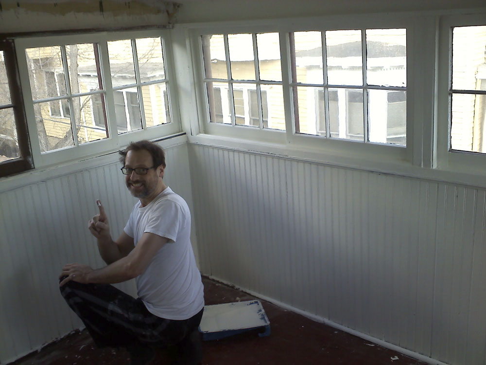 It took days to prep, prime, patch, paint and caulk this room.