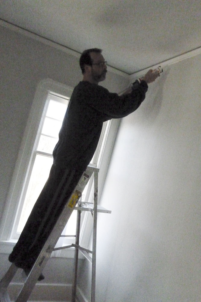 We like to paint the trim before the walls