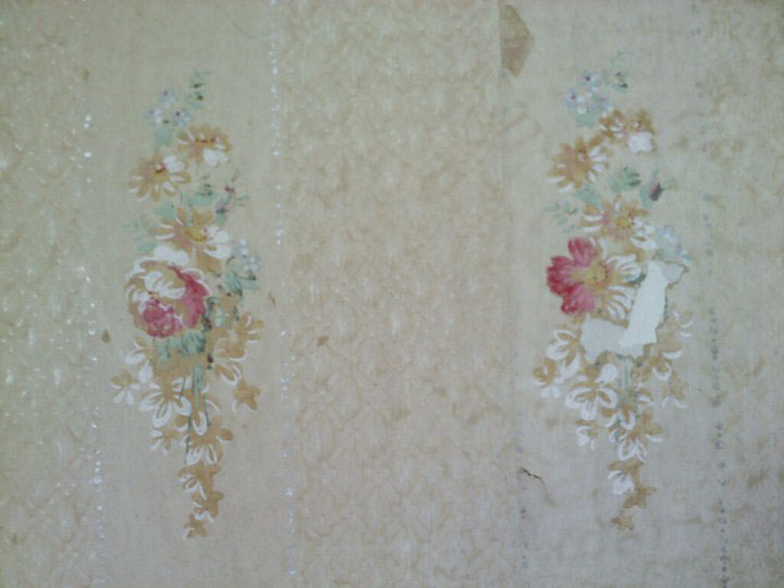 This is really old- it's actual paper. I googled the pattern and think it is from when the house was built in 1911.