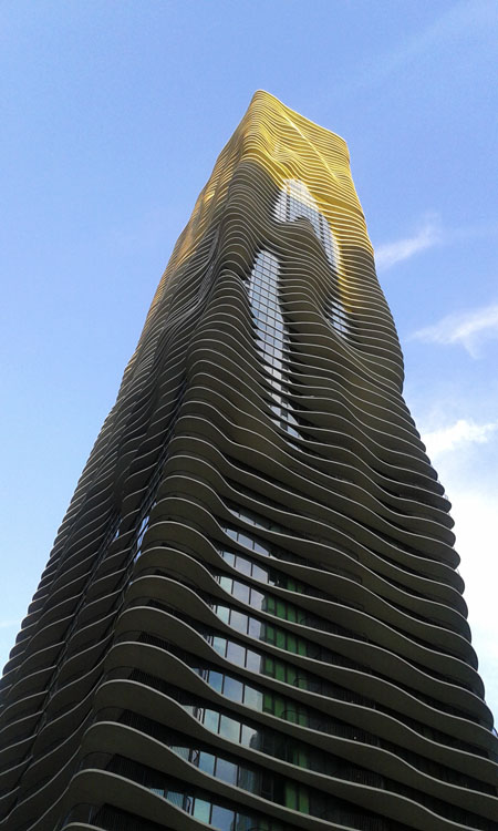 The Aqua Building, Chicago.