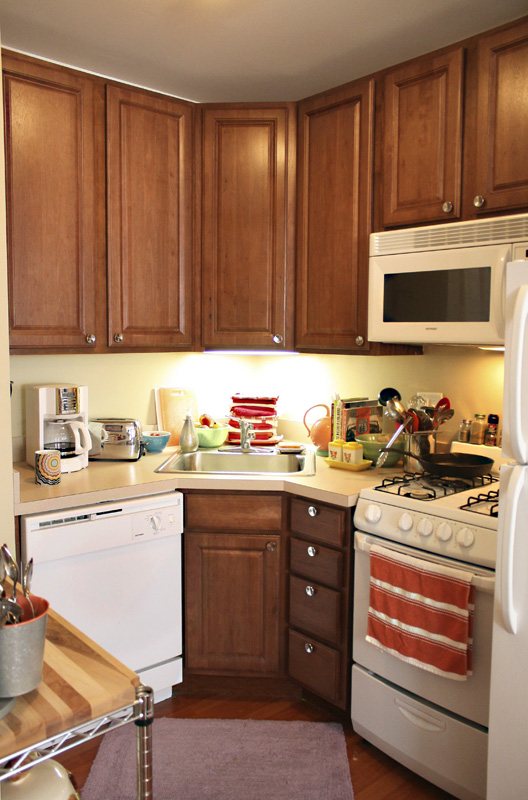 The renovated kitchen- plus dishwasher!