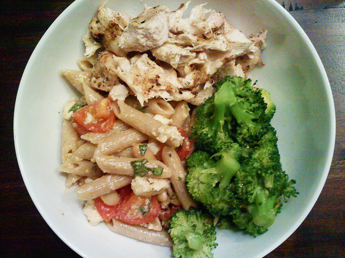 Chicken pasta bowl