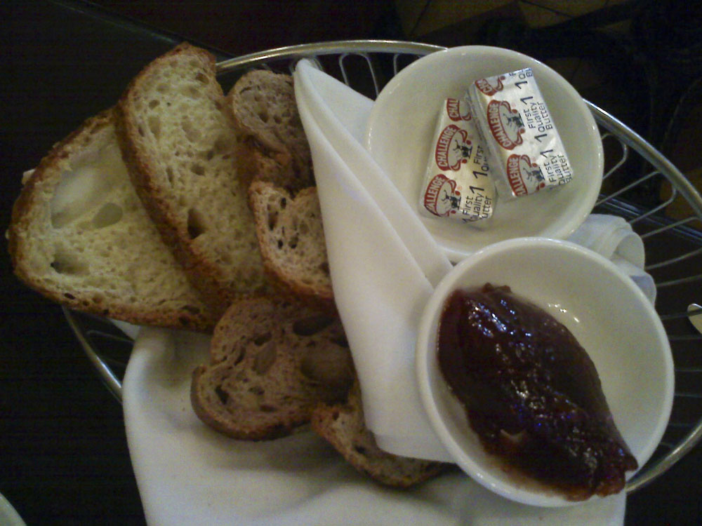 House made bread and jam at Figaro Bistrot.