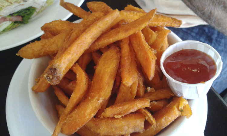 The sweet potato fries at Recess are soooooo good!