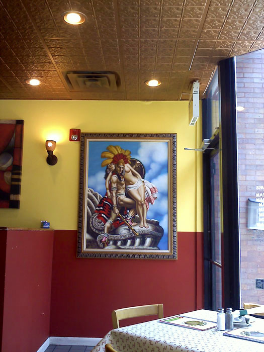 Fun decor at Azteca De Oro