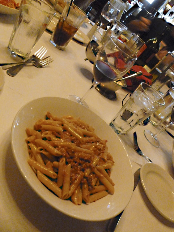 Mike had the Penne Bolognese (it was delicious).