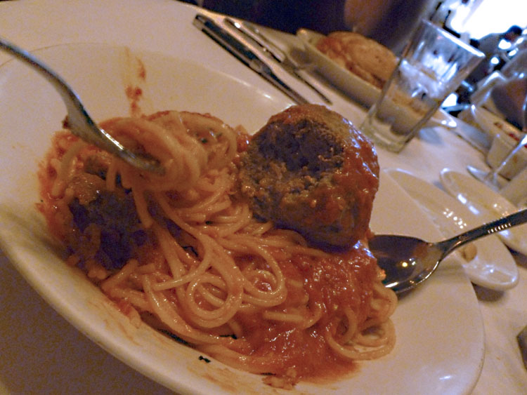 Mike had the Spaghetti and meatballs (it was delicious).