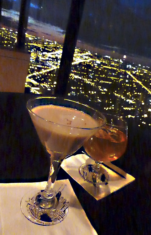Fancy cocktails at The Signature Room.