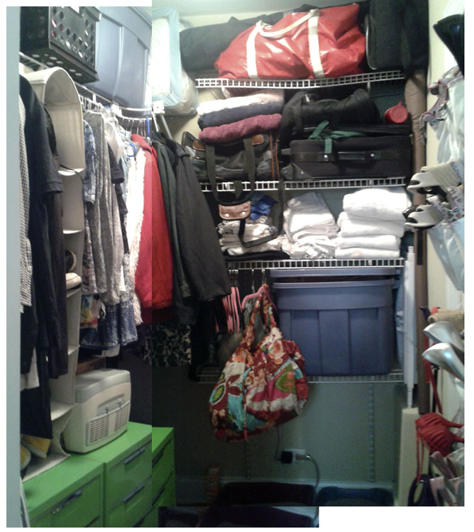 "Ok, so the closet needs work! Remember this pic as the ""before""!"