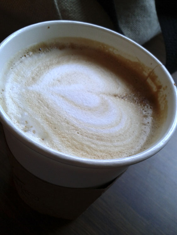 Cafe Latte at City Grounds, Lincoln Park, Chicago