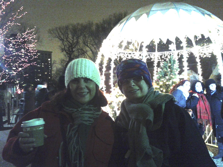 You can buy hot chocolate and mulled wine at the zoo. Yum!