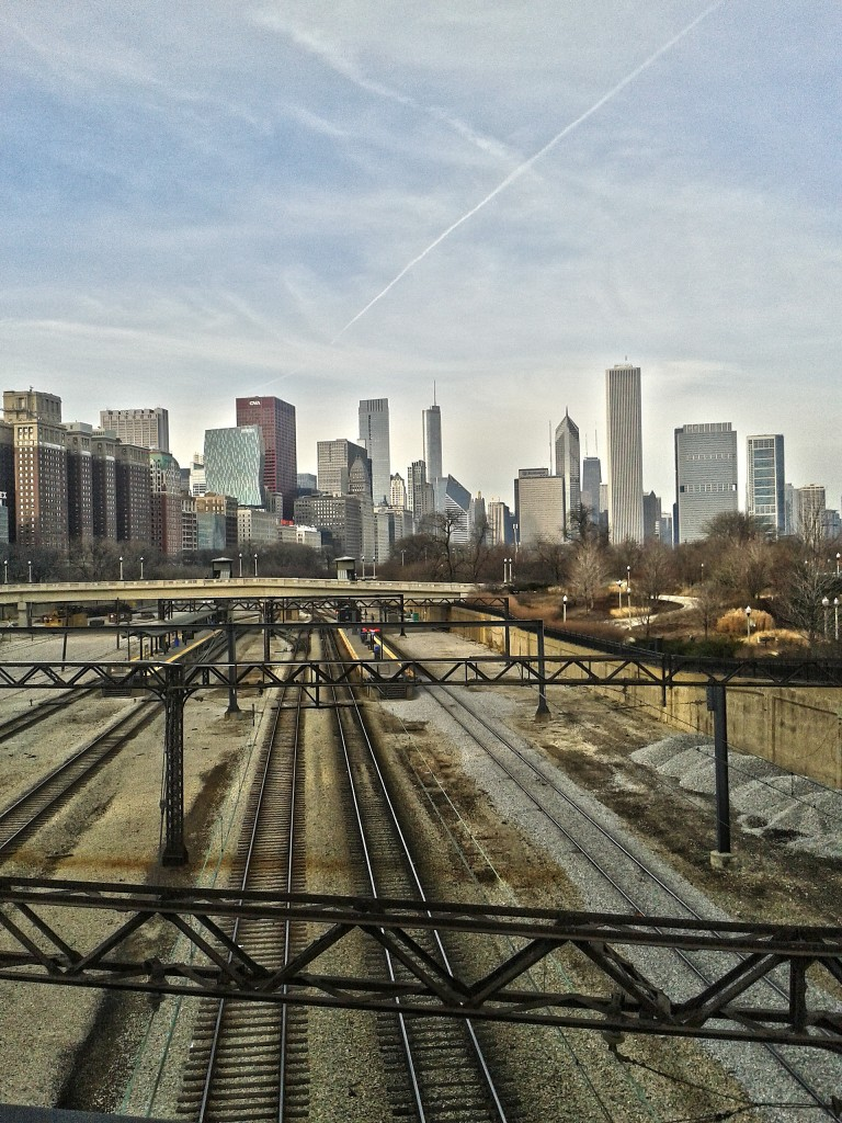 chicago skyline from south loop