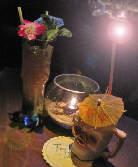 Tiki cocktails at Three Dots and a Dash, Chicago