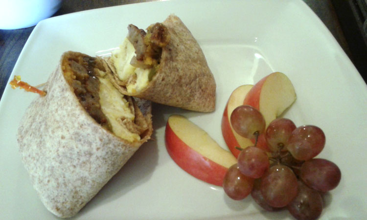 Breakfast Burrito from Wired Cafe,. Rockford,. IL
