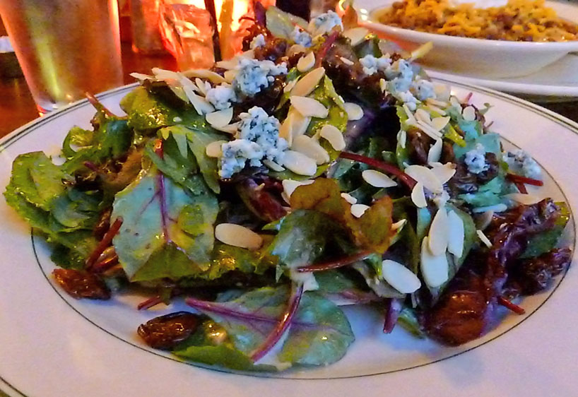 Mixed greens with Wisconsin cheese and local cherries