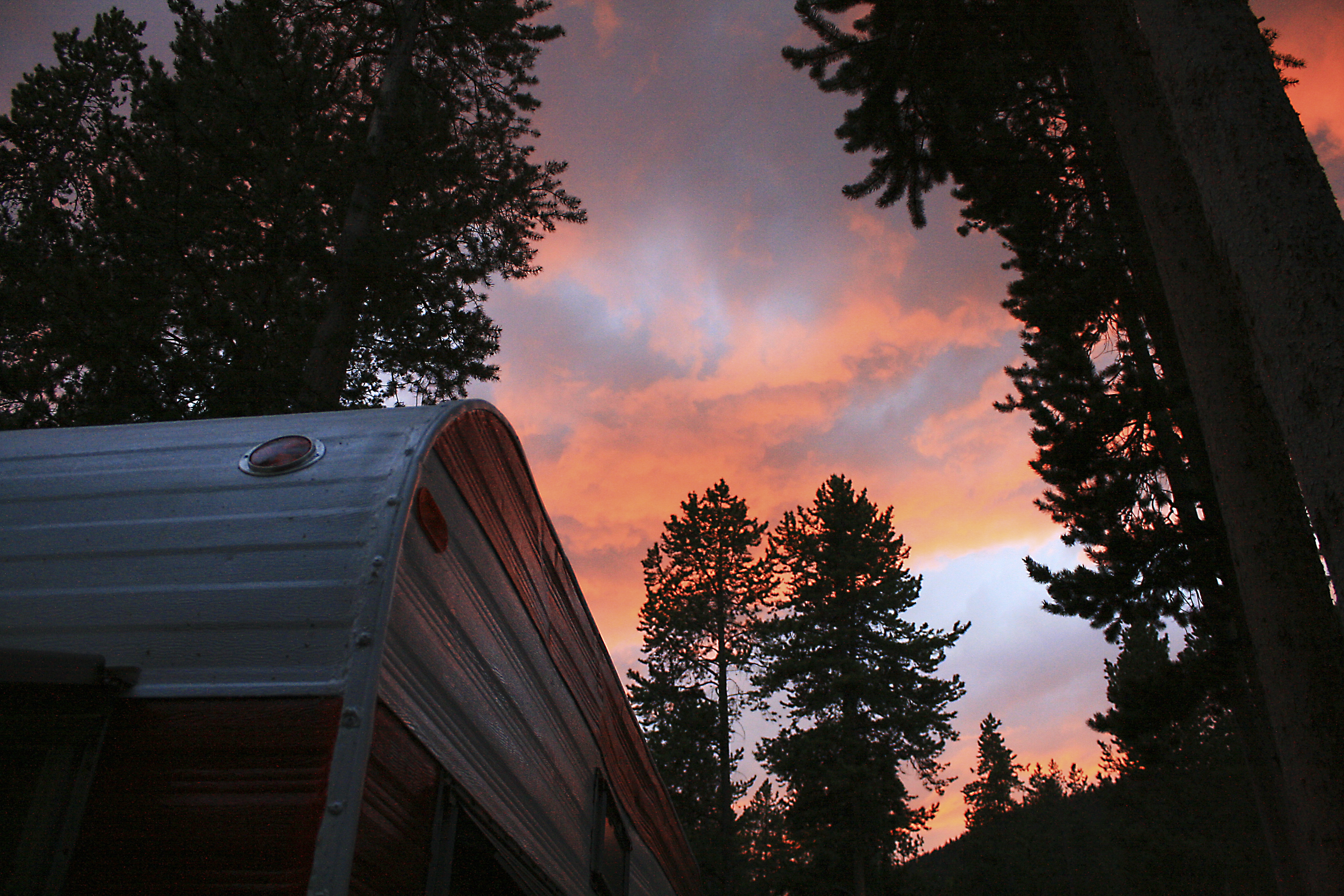Sunset at Yellowstone National Park, Wyoming