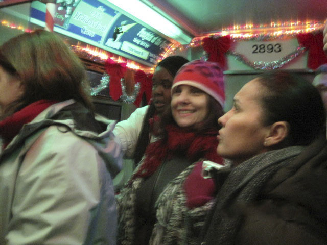 CTA holiday train, chicago