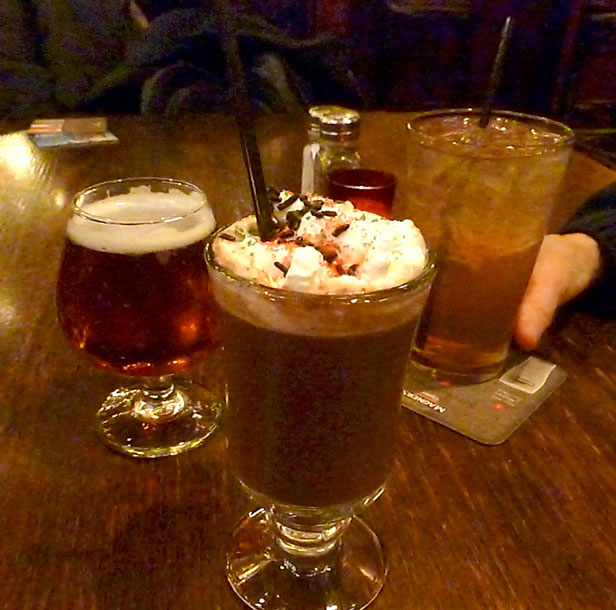 winter Holiday drinks at Galway Arms, Chicago