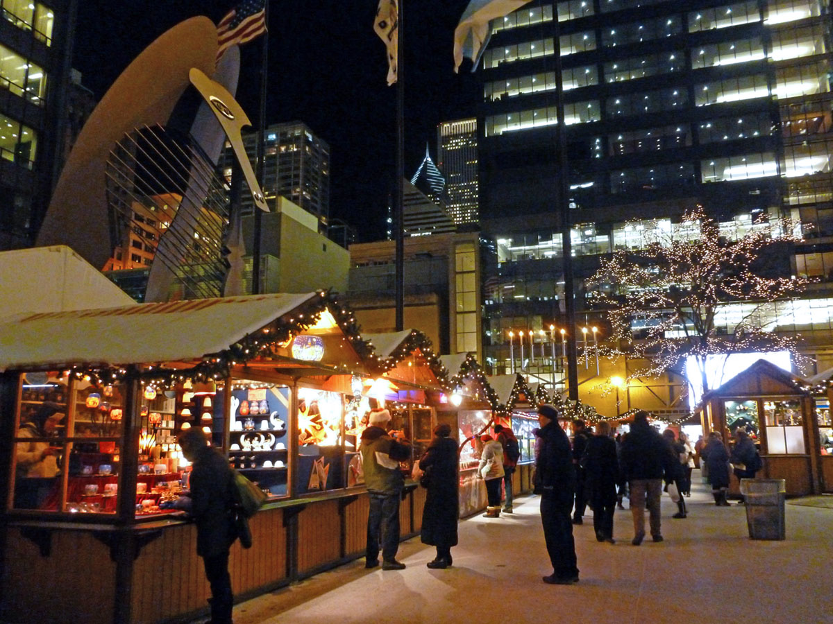 Authentic German Christmas market, Chicago