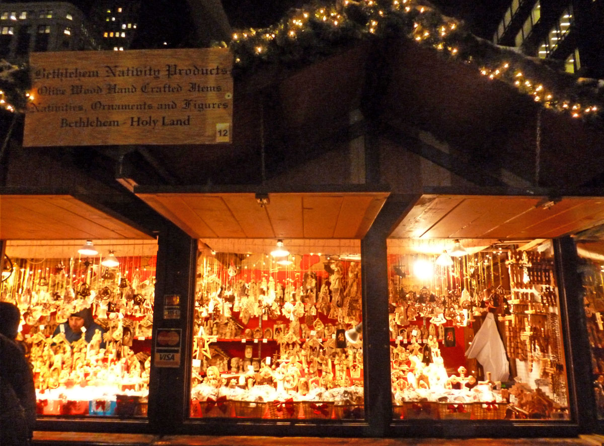 Handmade ornaments from all over the world are available at The Christkindlmarket in Chicago