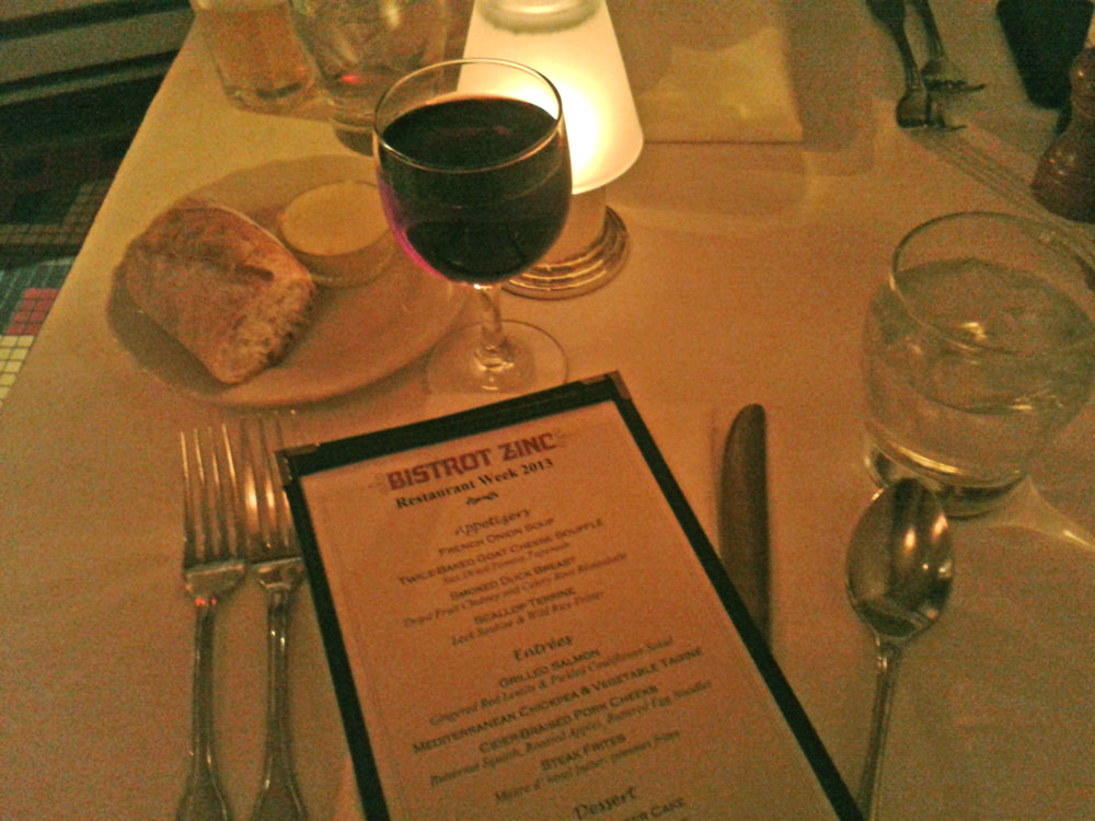 Restaurant Week 2013 at Bistrot Zinc, Chicago