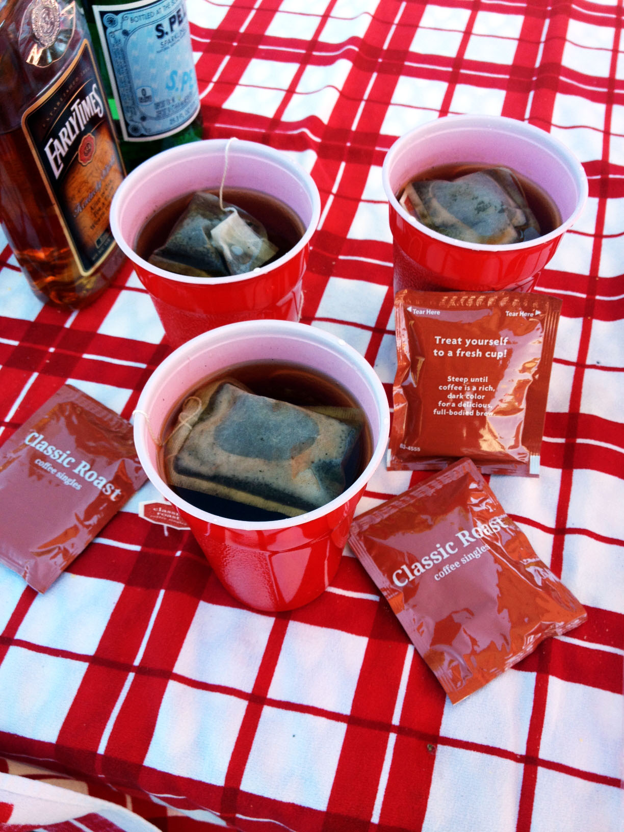 coffee in tea bags