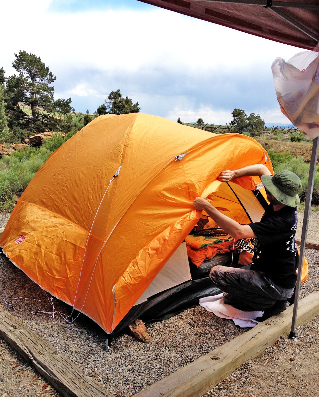 waterproof coleman tent
